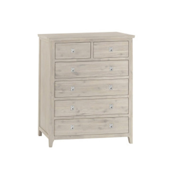 White Haven 2 over 4 Drawer Tallboy