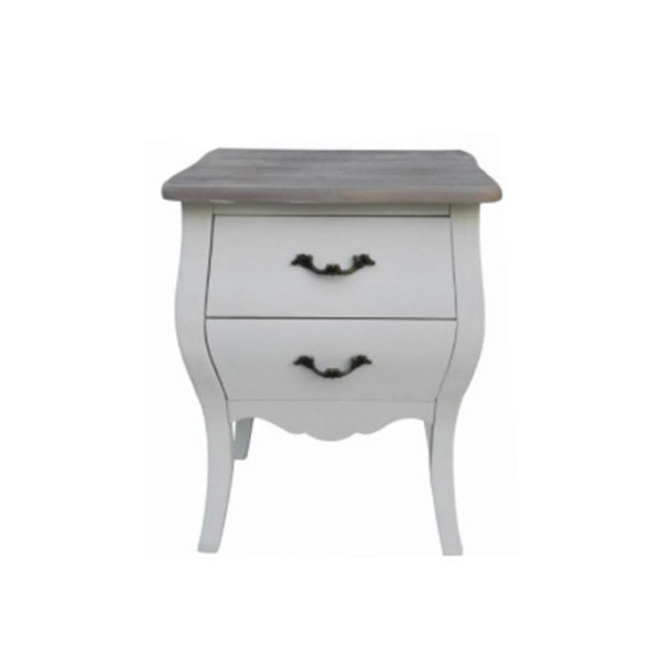 Naples Bedside Table - White
